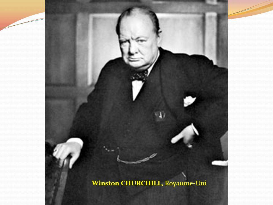 Winston CHURCHILL, Royaume-Uni