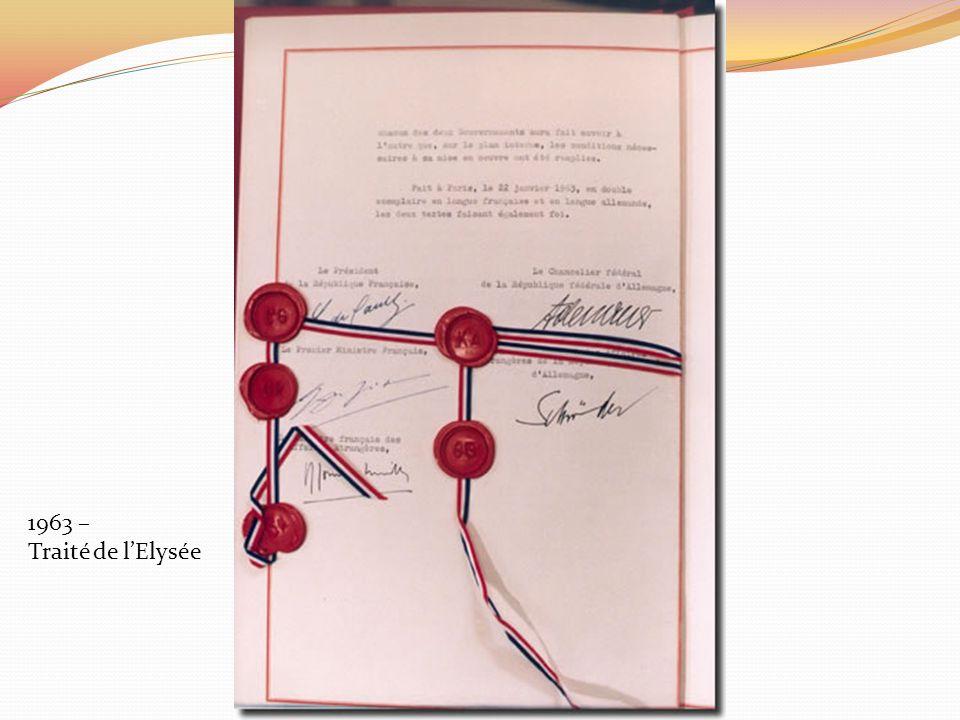 1963 – Traité de l'Elysée