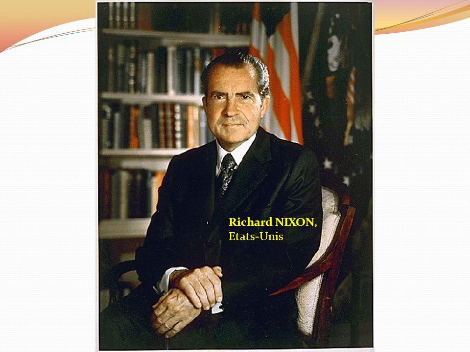 Richard NIXON, Etats-Unis