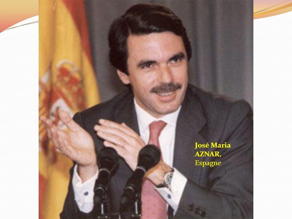 José Maria AZNAR, Espagne