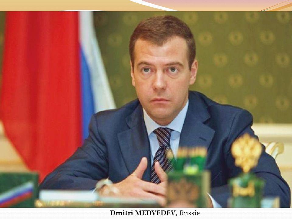 Dmitri MEDVEDEV, Russie