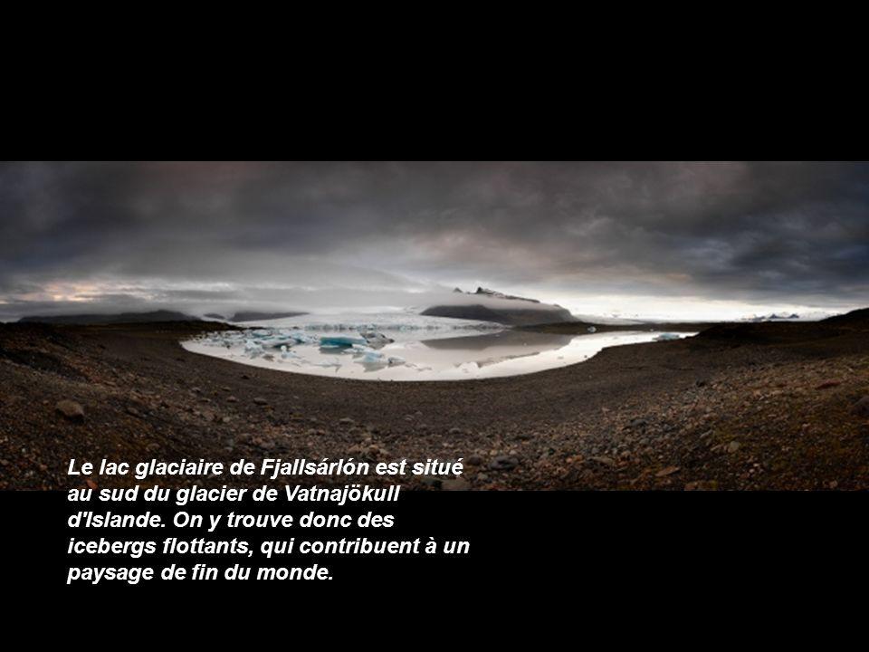 Le lac glaciaire de Fjallsárlón est situé au sud du glacier de Vatnajökull d Islande.