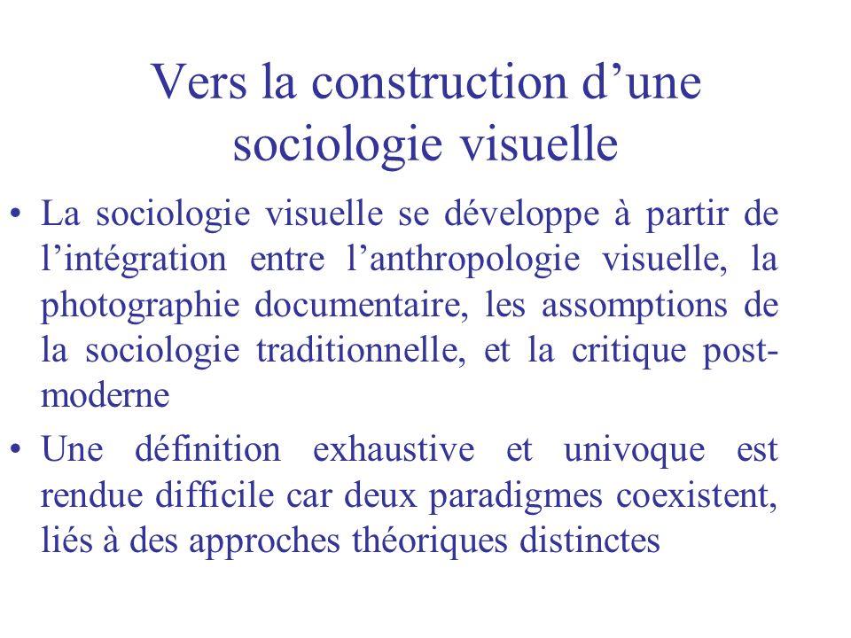 Vers la construction d'une sociologie visuelle