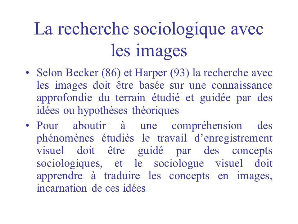 La recherche sociologique avec les images