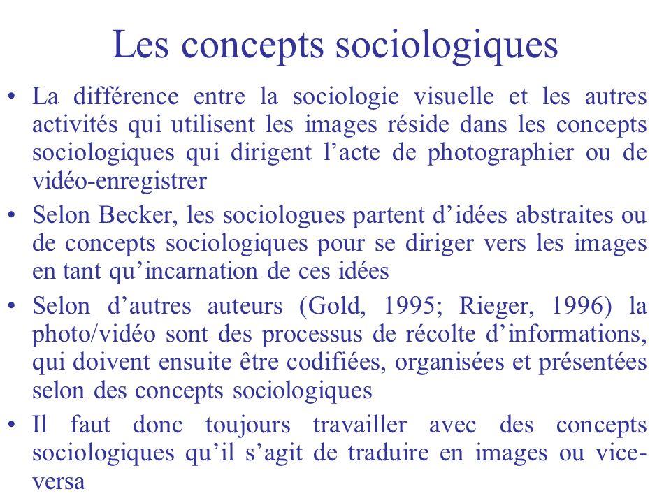 Les concepts sociologiques