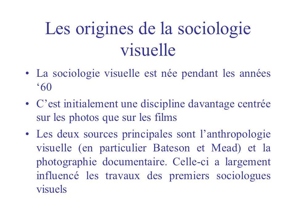 Les origines de la sociologie visuelle