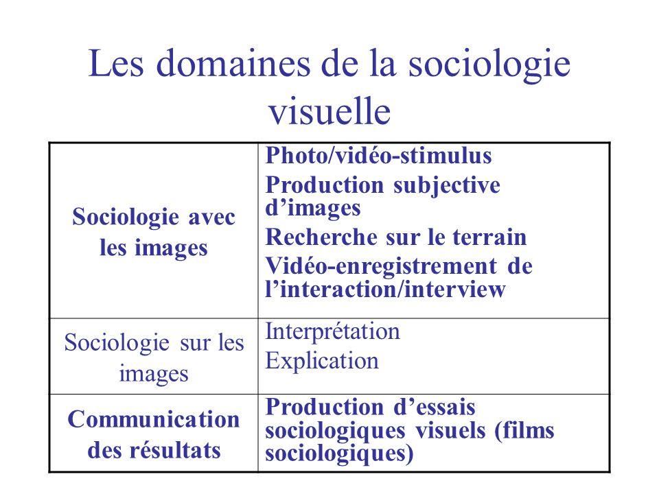 Les domaines de la sociologie visuelle