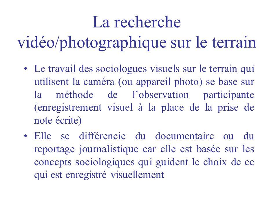 La recherche vidéo/photographique sur le terrain