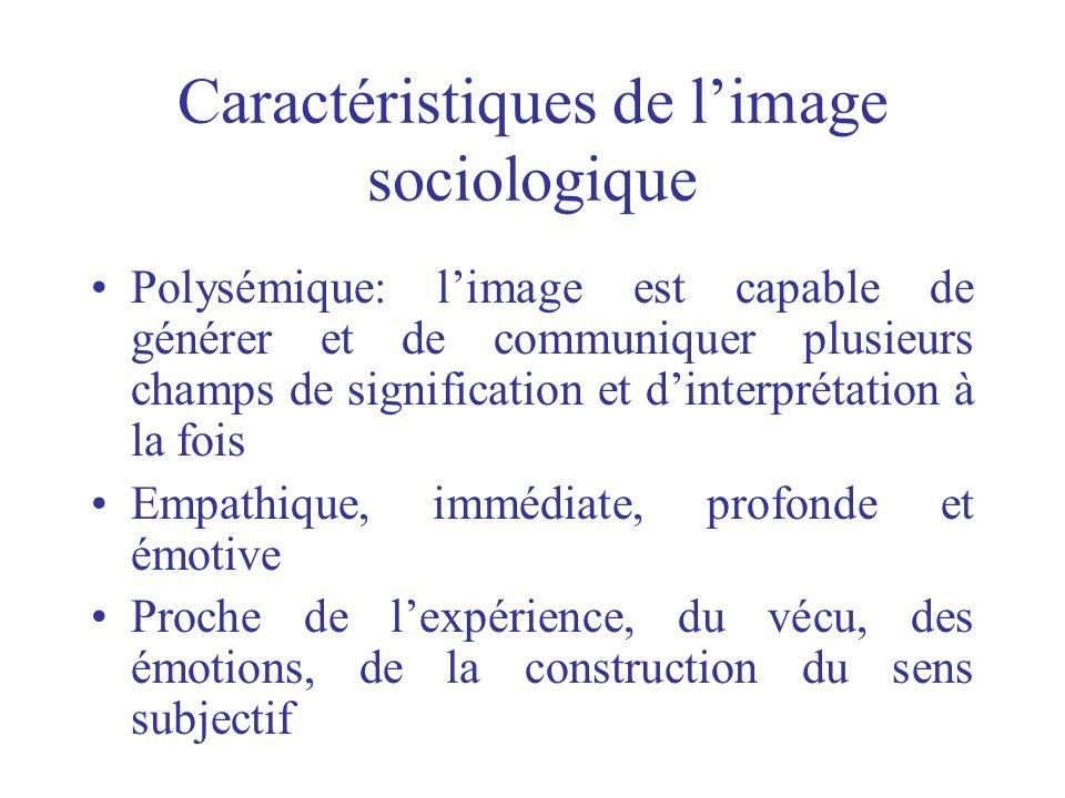 Caractéristiques de l'image sociologique