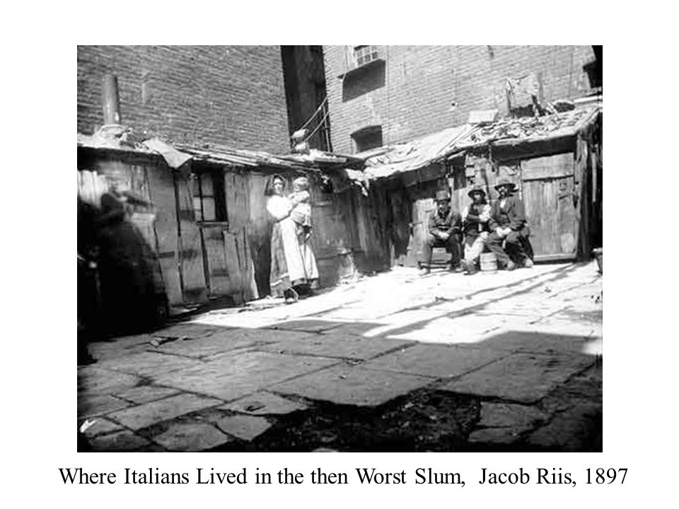 Where Italians Lived in the then Worst Slum, Jacob Riis, 1897