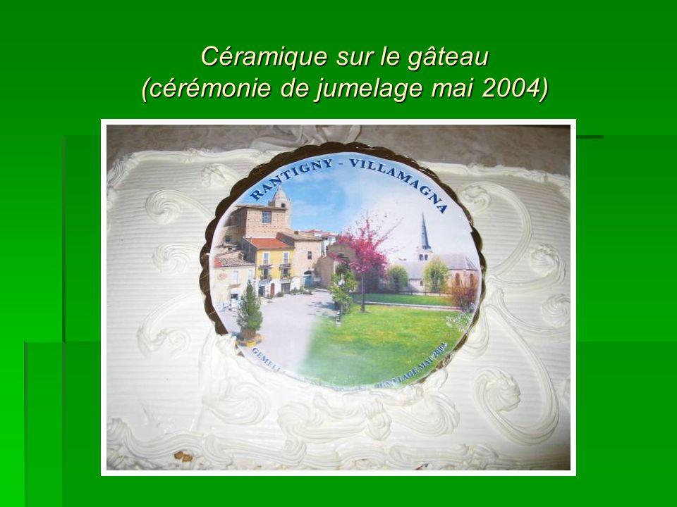Céramique sur le gâteau (cérémonie de jumelage mai 2004)