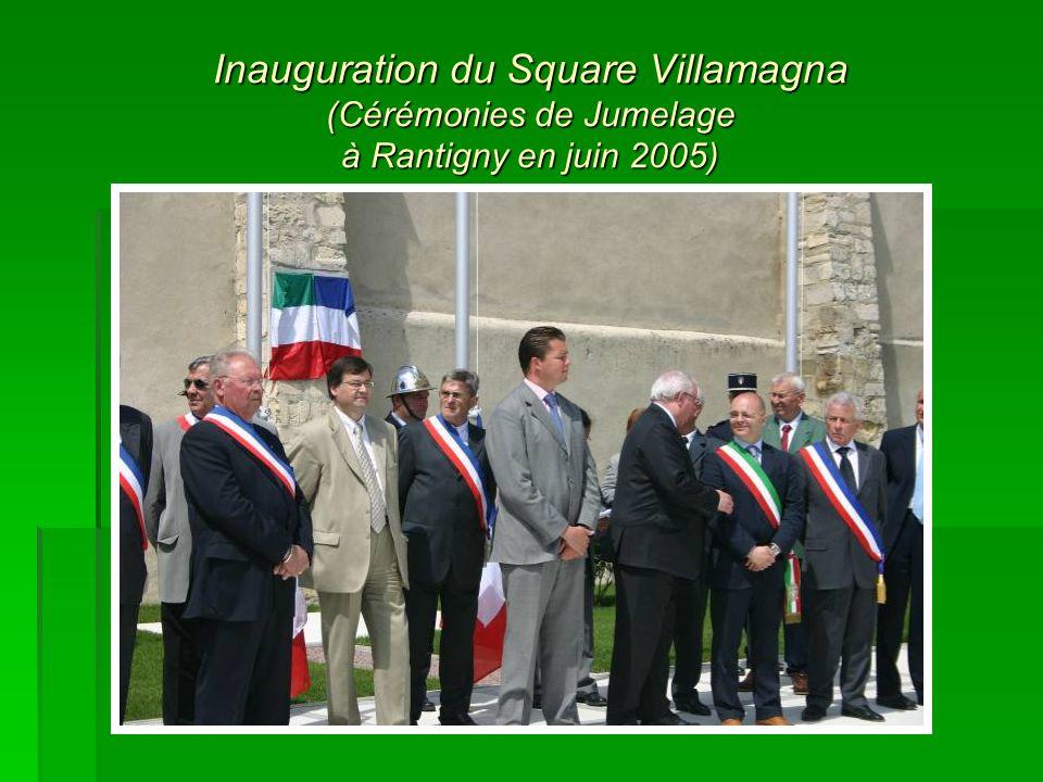 Inauguration du Square Villamagna (Cérémonies de Jumelage à Rantigny en juin 2005)