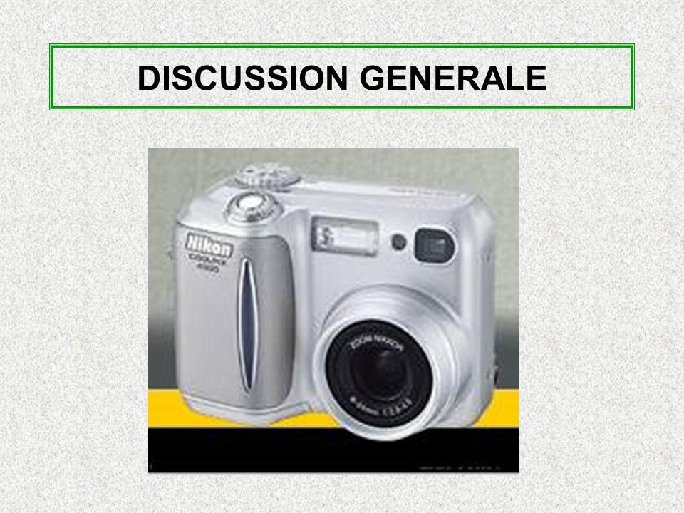 DISCUSSION GENERALE