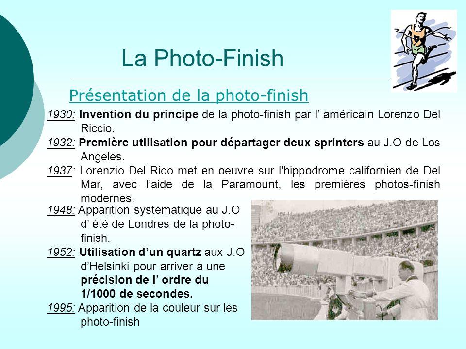 La Photo-Finish Présentation de la photo-finish