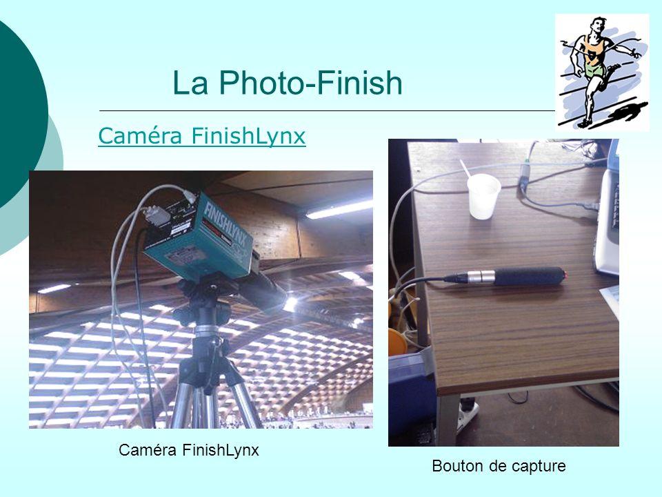La Photo-Finish Caméra FinishLynx Caméra FinishLynx Bouton de capture