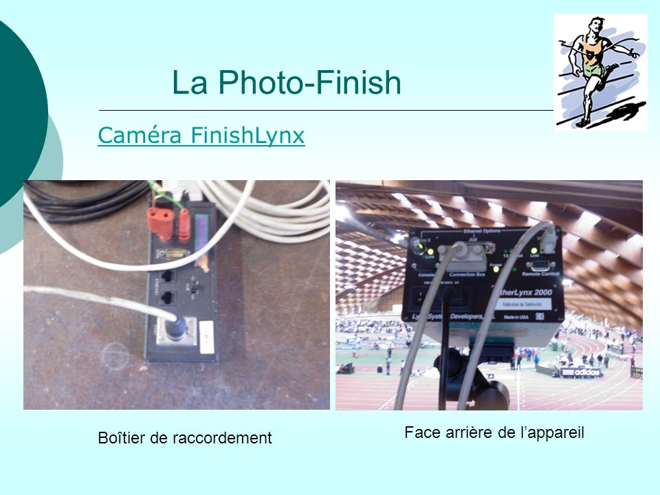 La Photo-Finish Caméra FinishLynx Face arrière de l'appareil