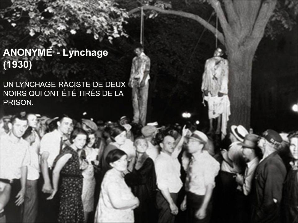 ANONYME - Lynchage (1930) UN LYNCHAGE RACISTE DE DEUX NOIRS QUI ONT ÉTÉ TIRÉS DE LA PRISON.