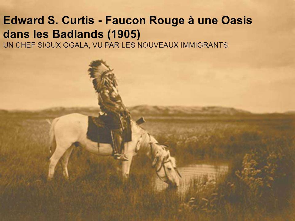 Edward S. Curtis - Faucon Rouge à une Oasis dans les Badlands (1905)