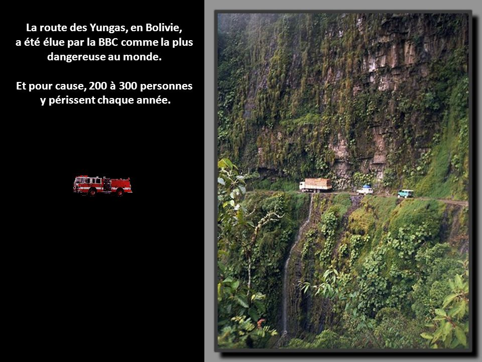 La route des Yungas, en Bolivie,