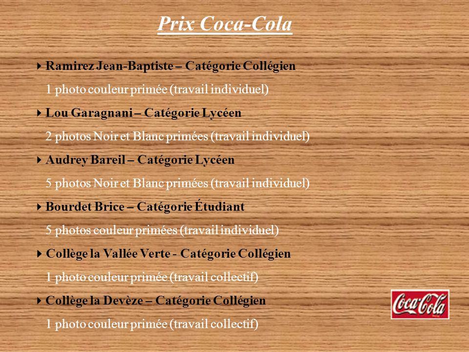 Prix Coca-Cola Ramirez Jean-Baptiste – Catégorie Collégien