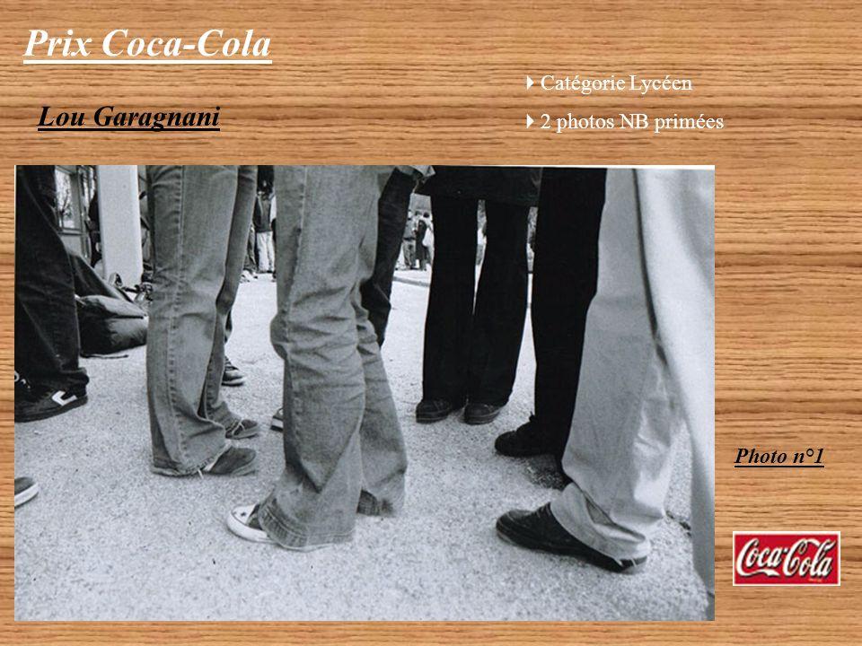 Prix Coca-Cola Lou Garagnani Catégorie Lycéen 2 photos NB primées