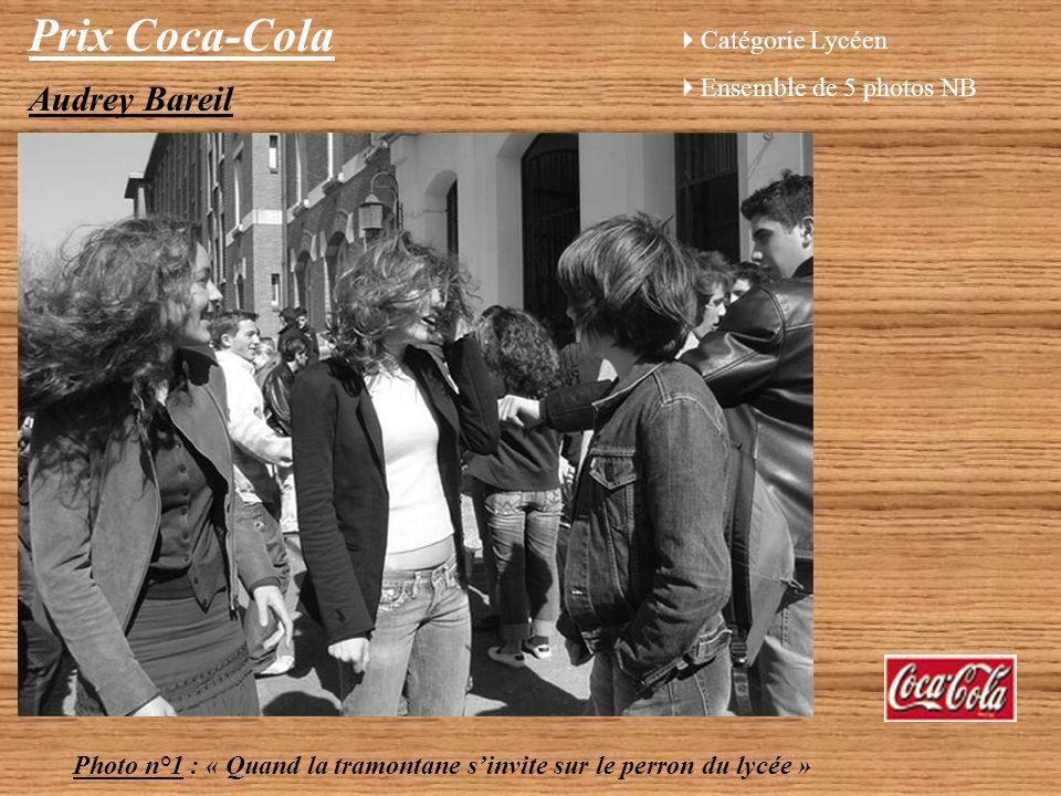 Prix Coca-Cola Audrey Bareil Catégorie Lycéen Ensemble de 5 photos NB