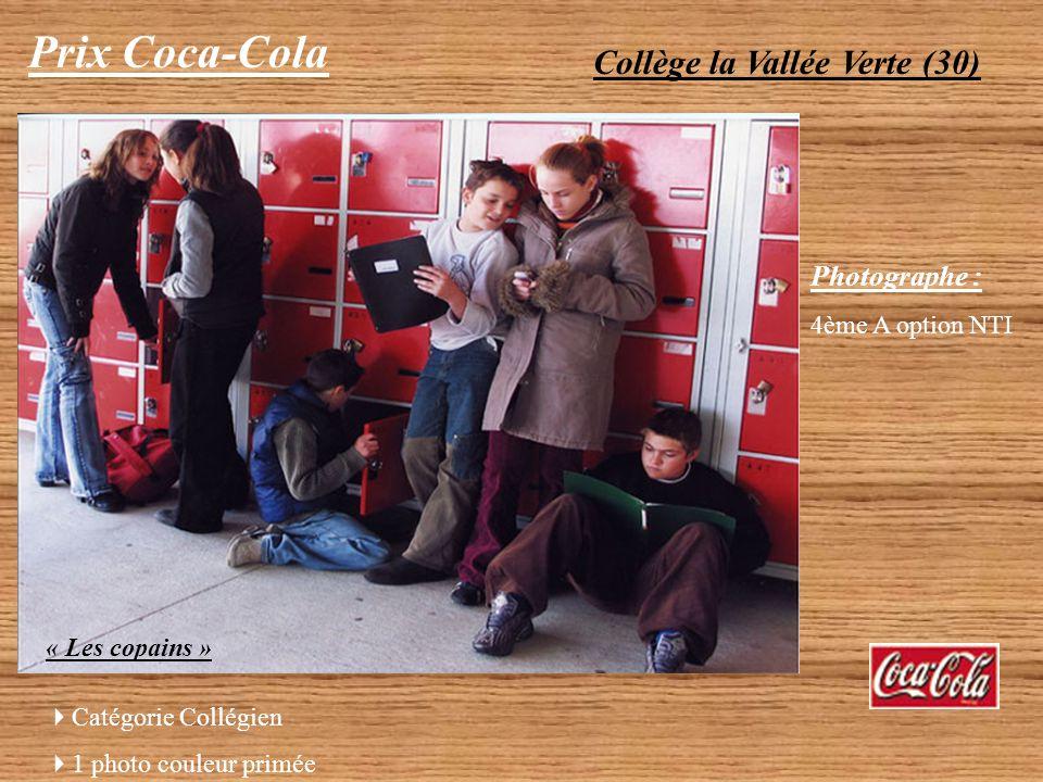 Prix Coca-Cola Collège la Vallée Verte (30) Photographe :