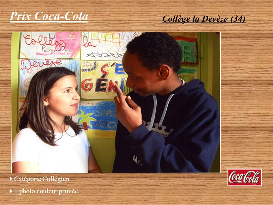 Prix Coca-Cola Collège la Devèze (34) Catégorie Collégien