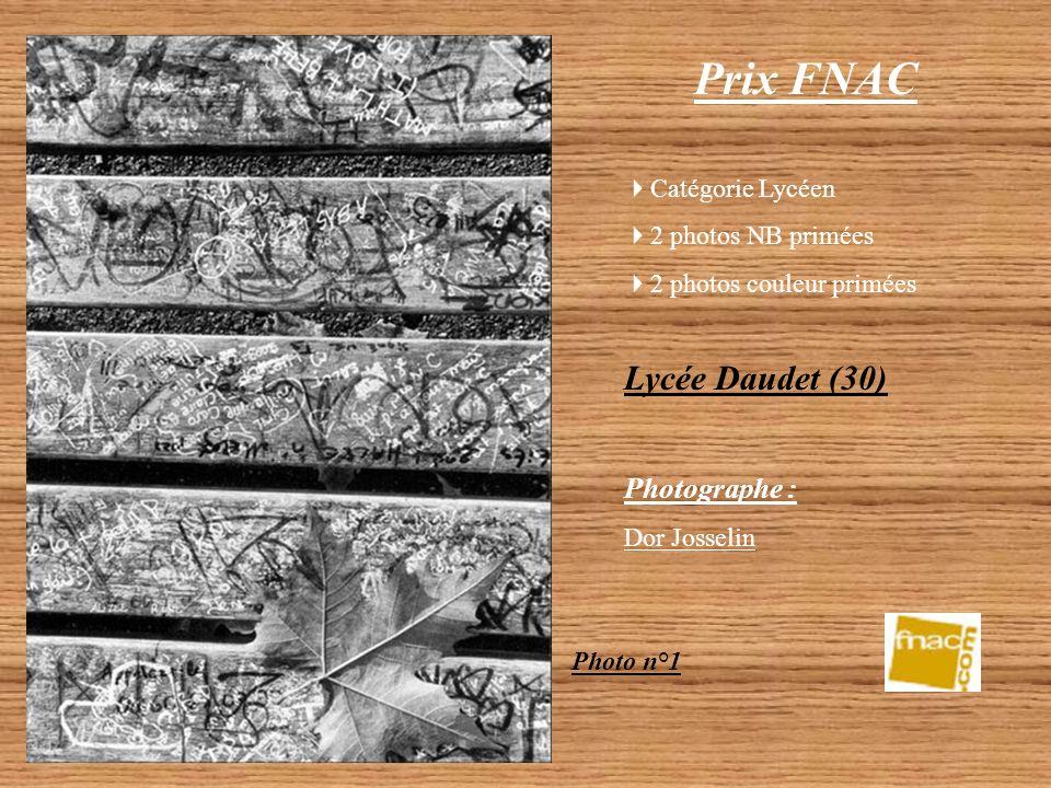 Prix FNAC Lycée Daudet (30) Photographe : Catégorie Lycéen