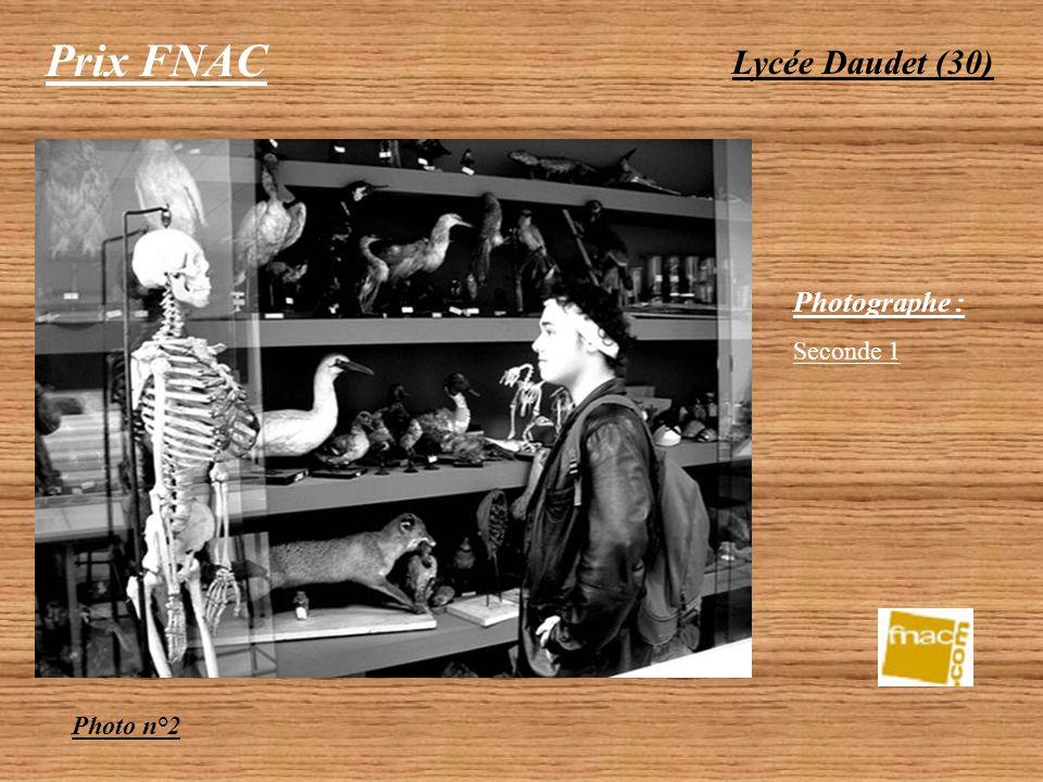 Prix FNAC Lycée Daudet (30) Photographe : Seconde 1 Photo n°2
