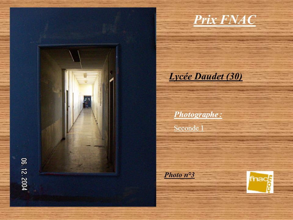 Prix FNAC Lycée Daudet (30) Photographe : Seconde 1 Photo n°3
