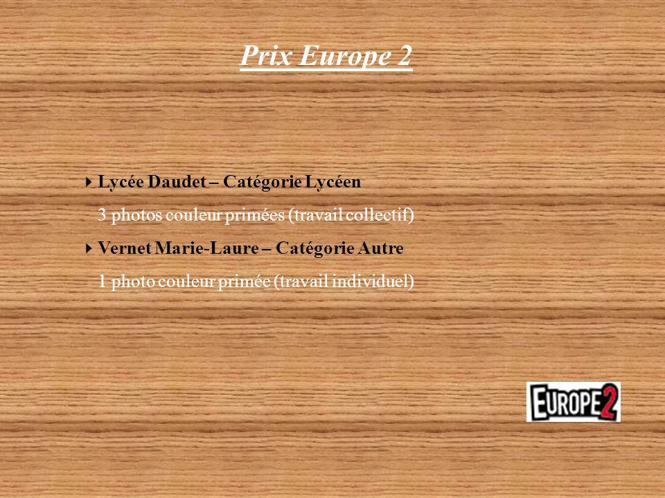 Prix Europe 2 Lycée Daudet – Catégorie Lycéen