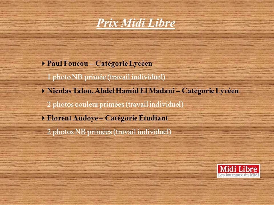 Prix Midi Libre Paul Foucou – Catégorie Lycéen