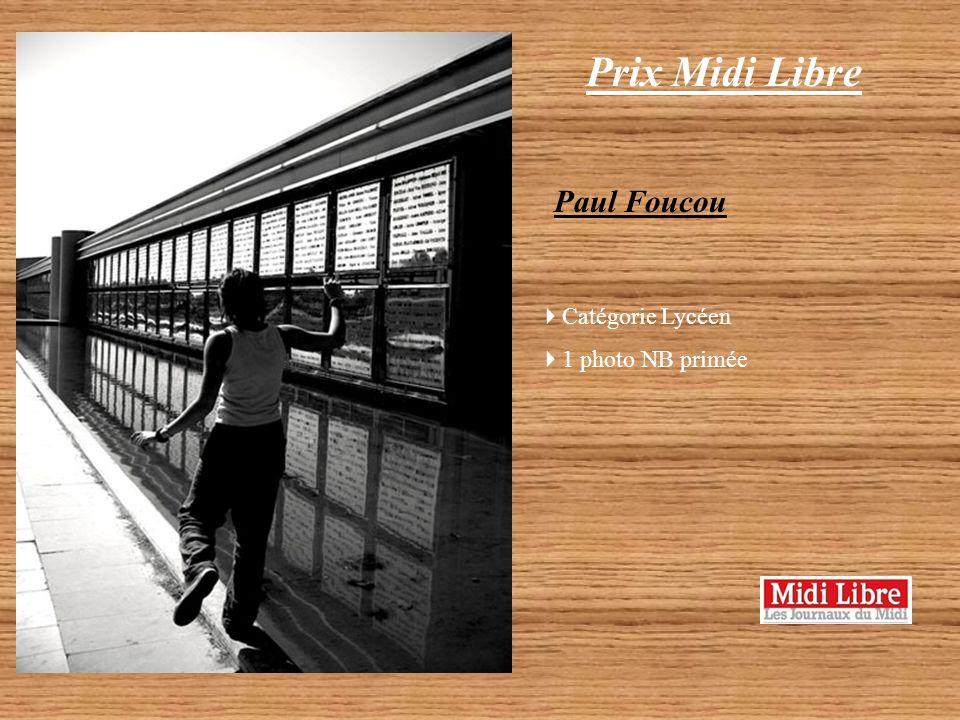 Prix Midi Libre Paul Foucou Catégorie Lycéen 1 photo NB primée