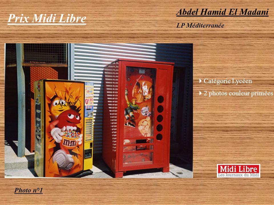 Prix Midi Libre Abdel Hamid El Madani LP Méditerranée Catégorie Lycéen