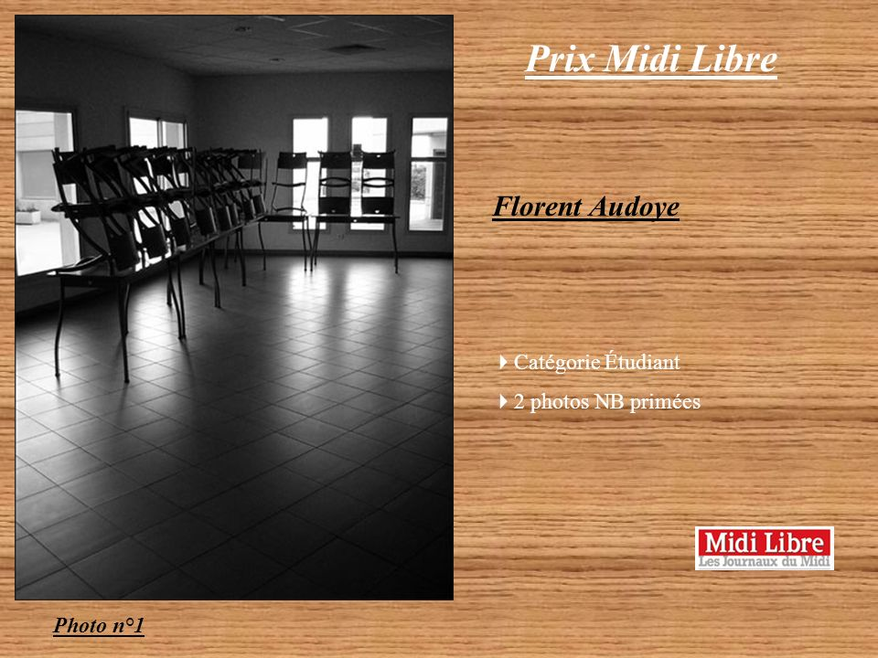 Prix Midi Libre Florent Audoye Catégorie Étudiant 2 photos NB primées