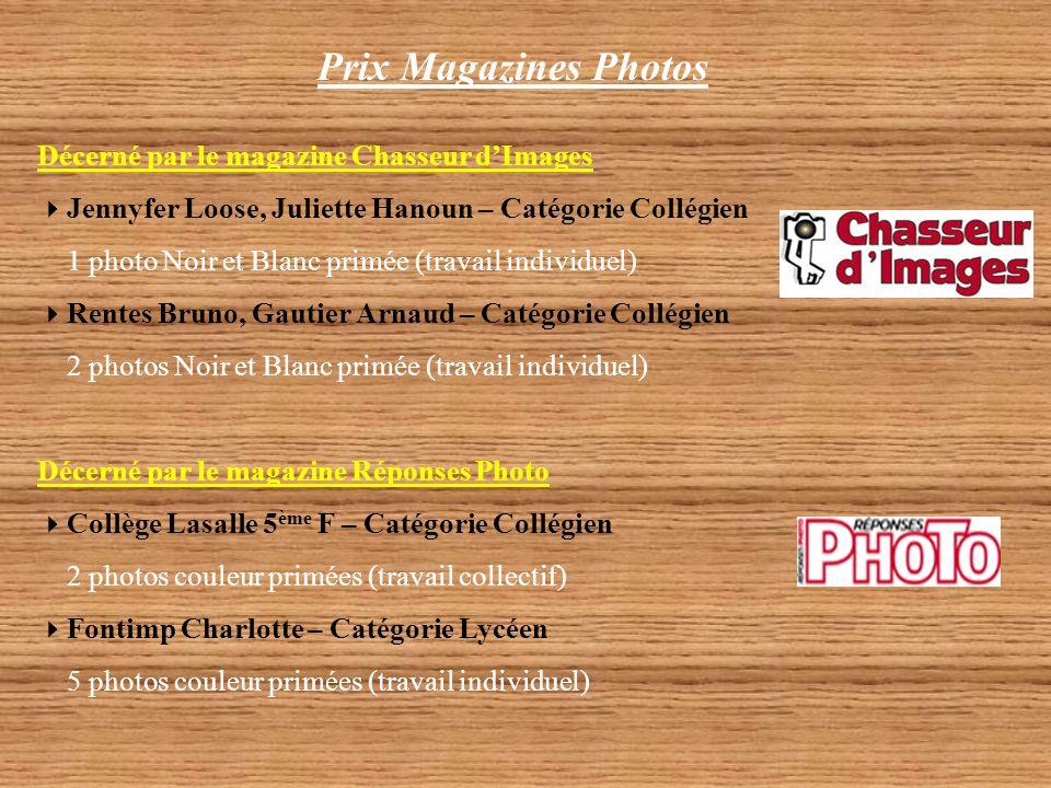 Prix Magazines Photos Décerné par le magazine Chasseur d'Images