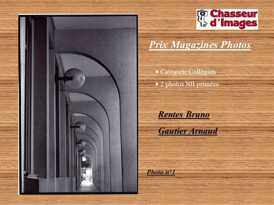 Prix Magazines Photos Rentes Bruno Gautier Arnaud Catégorie Collégien