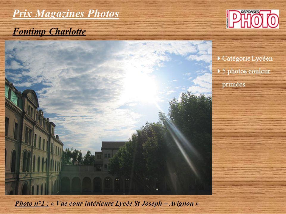 Prix Magazines Photos Fontimp Charlotte Catégorie Lycéen