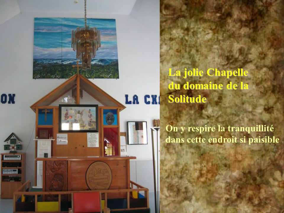 La jolie Chapelle du domaine de la Solitude
