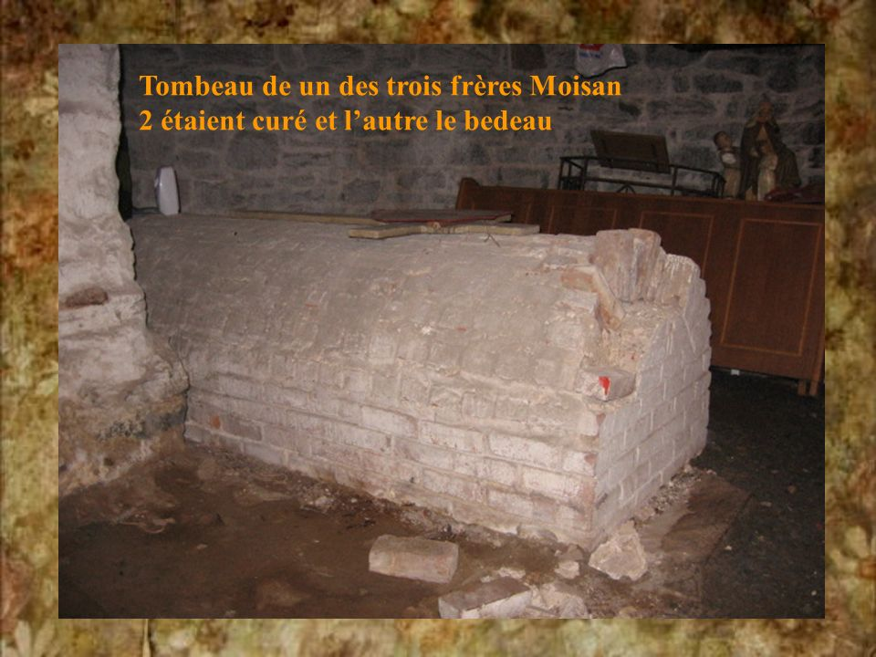 Tombeau de un des trois frères Moisan