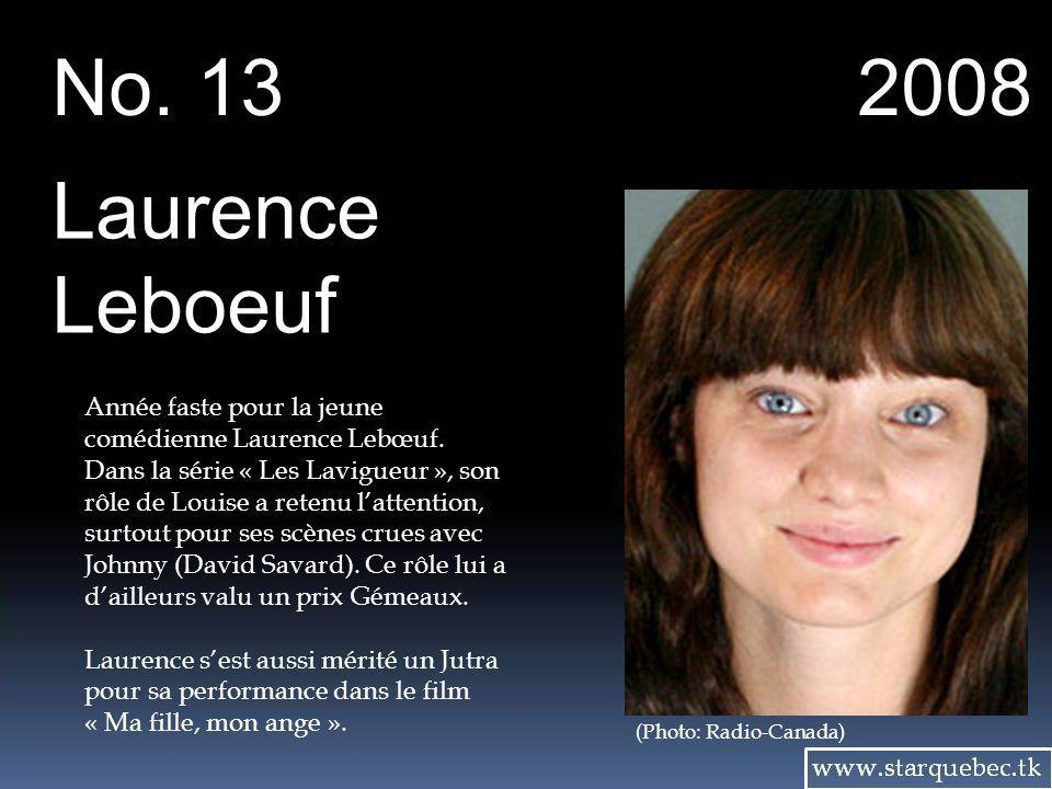 No. 13 2008. Laurence. Leboeuf.
