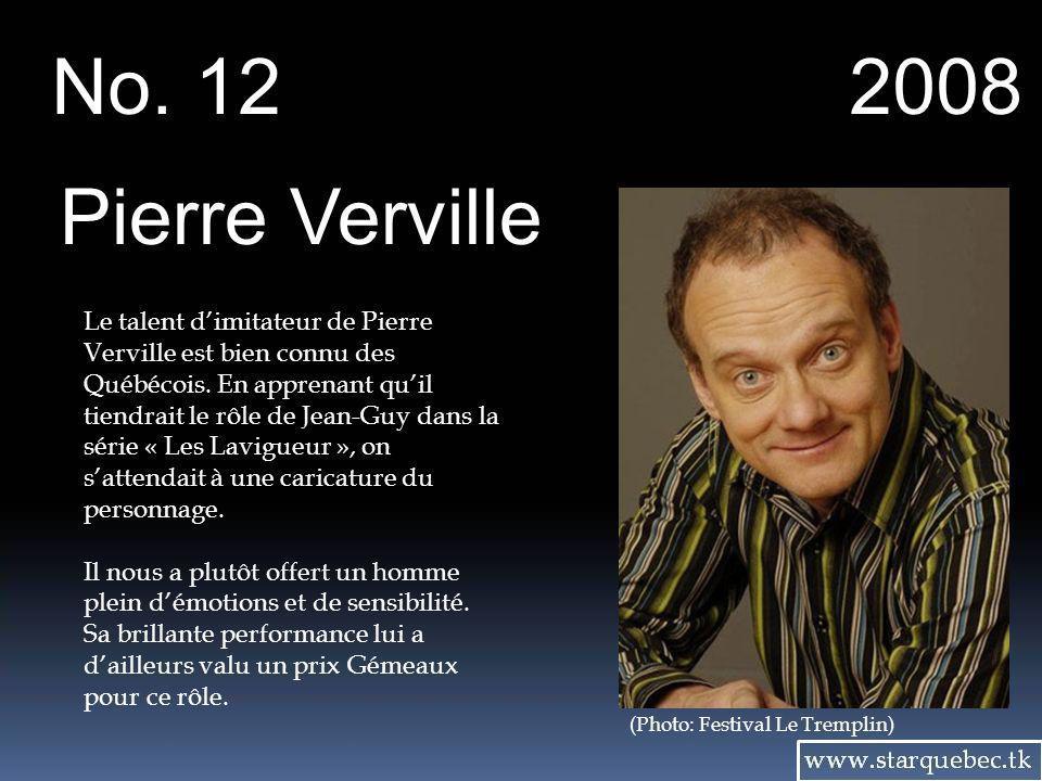 No. 12 2008. Pierre Verville.