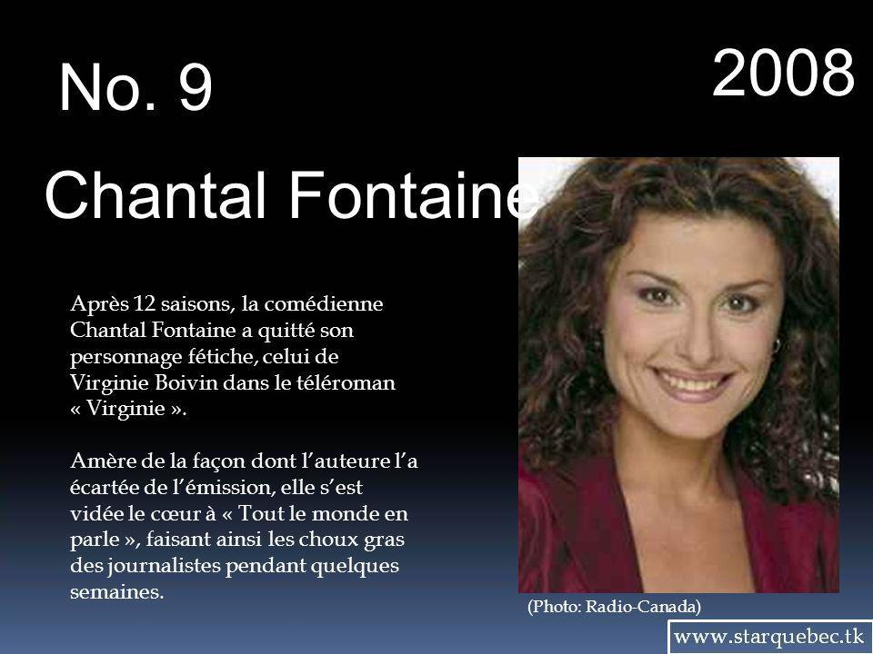 2008 No. 9. Chantal Fontaine.
