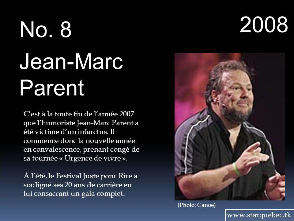 2008 No. 8. Jean-Marc. Parent.
