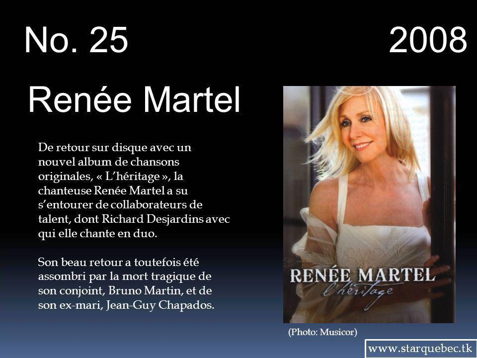No. 25 2008. Renée Martel.