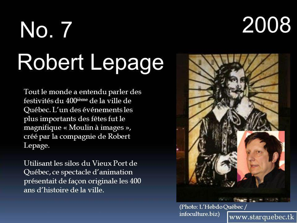 2008 No. 7. Robert Lepage.