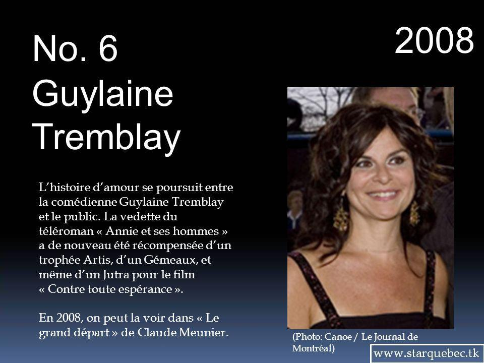2008 No. 6. Guylaine. Tremblay.