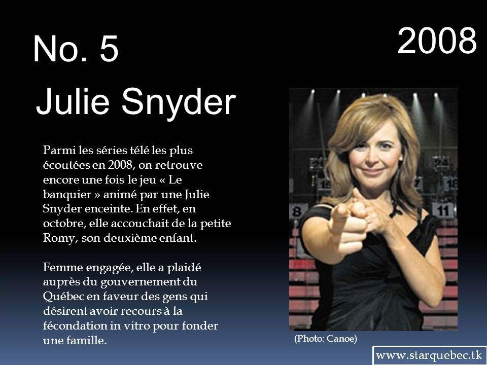 2008 No. 5. Julie Snyder.