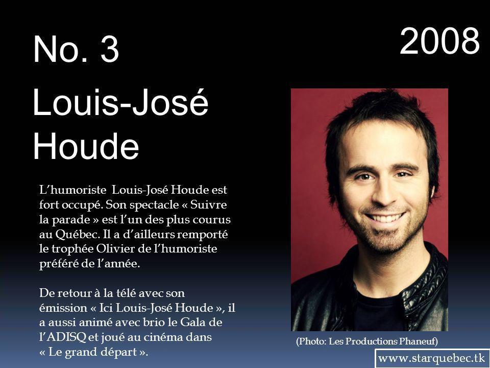 2008 No. 3. Louis-José. Houde.